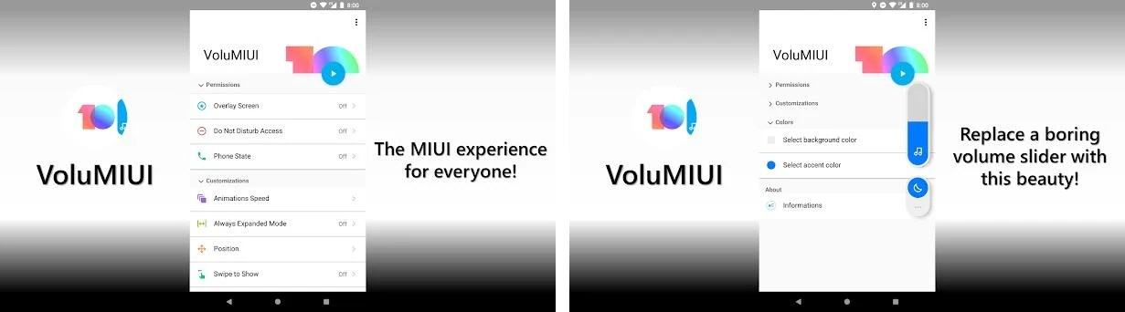 VoluMIUI 3 1 apk download for Android • com pro volumiui10pro