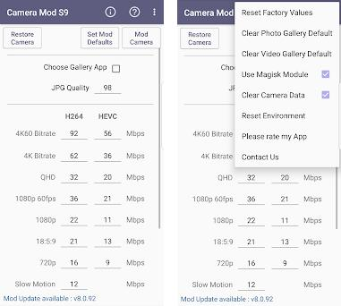 Camera Mod S9 / N9 - Bitrate & Settings [ROOT] 1 40 apk download for