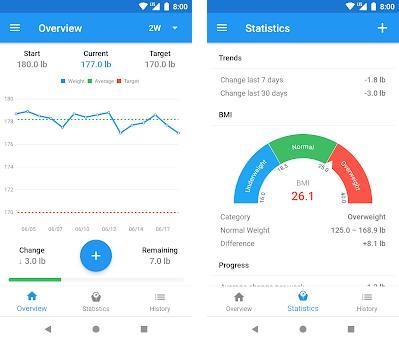 Diario de peso & Calculadora de IMC – WeightFit Capturas de pantalla