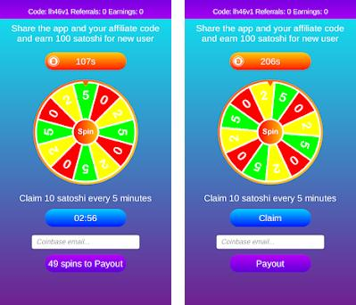 Claim Free Bitcoin - Satoshi Faucet and Spinner (Unreleased) Varies