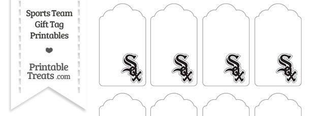 Chicago White Sox Gift Tags — Printable Treats.com