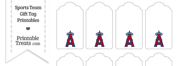 Los Angeles Angels Gift Tags — Printable Treats.com