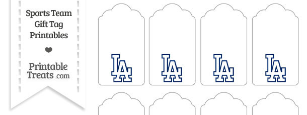 Los Angeles Dodgers Gift Tags — Printable Treats.com
