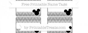 Free Tiffany Blue Horizontal Striped Hello Kitty Name Tags