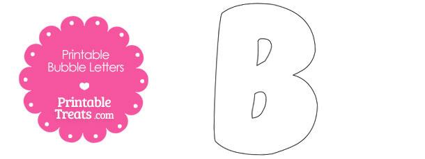 Printable Bubble Letter B Template Printable Treats Com