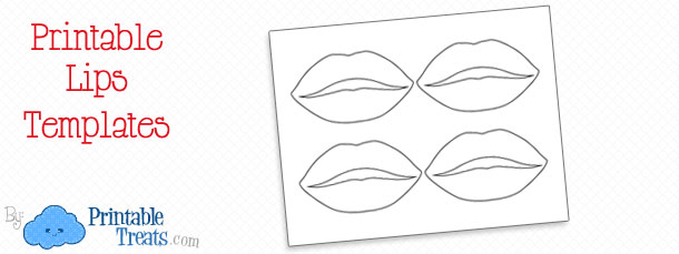 photograph relating to Lip Stencil Printable named Printable Lips Stencil