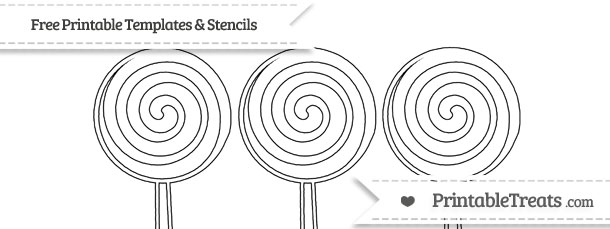 Free Printable Small Swirly Lollipop Stencil — Printable
