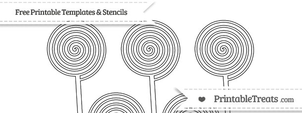 Free Printable Small Swirly Lollipop Template — Printable