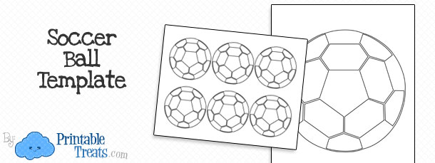 Printable Soccer Ball Template — Printable Treats.com