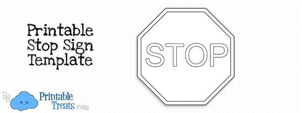 Printable Stop Sign Template — Printable Treats.com