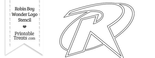 Robin Boy Wonder Symbol Stencil — Printable Treats.com