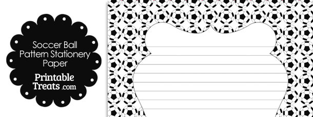 Soccer Ball Pattern Stationery Paper — Printable Treats.com