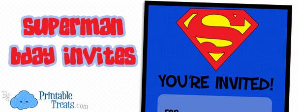 Free Printable Superman Birthday Invitations — Printable