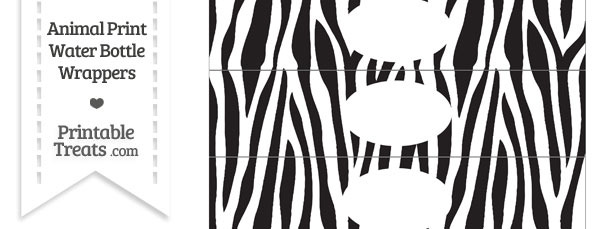 Zebra Print Water Bottle Wrappers — Printable Treats.com