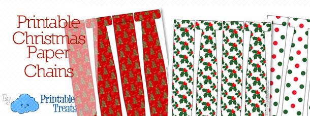 print christmas paper chains