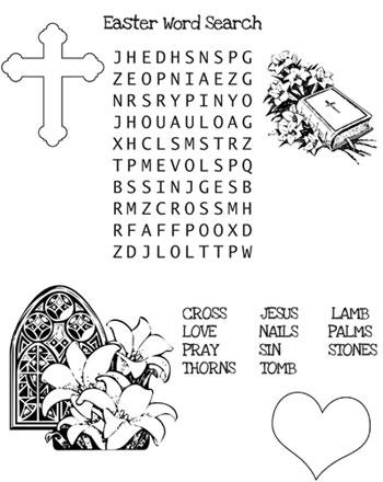 Christian Easter Word Search — Printable Treats.com