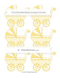 Amber Polka Dot Small Baby Carriage Cut Outs  Printable ...