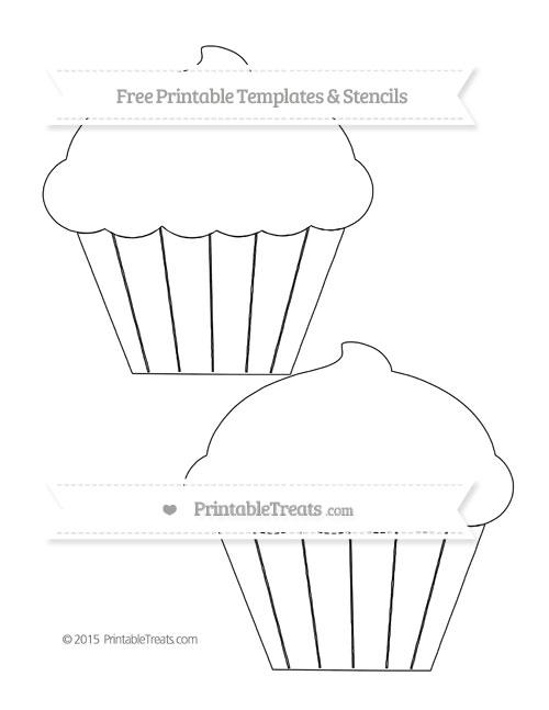 Printable cupcake template