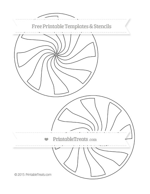 Free Printable Large Peppermint Candy Template — Printable