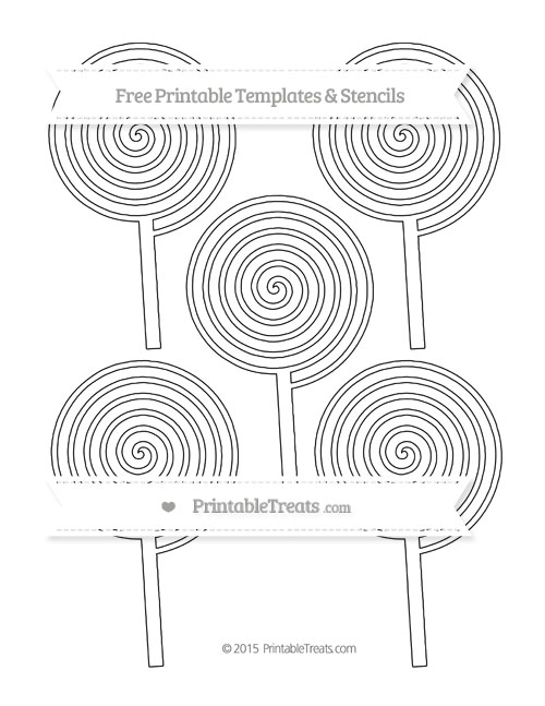 Free Printable Medium Swirly Lollipop Template — Printable