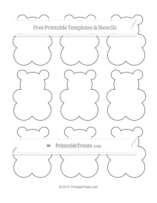 Free Printable Small Gummy Bear Template — Printable
