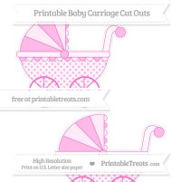 Rose Pink Polka Dot Large Baby Carriage Cut Outs ...