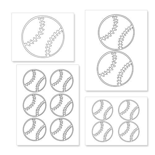 Printable Baseball Shapes — Printable Treats.com