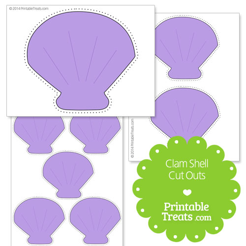 Printable Clam Shell Cut Outs Printable Treatscom
