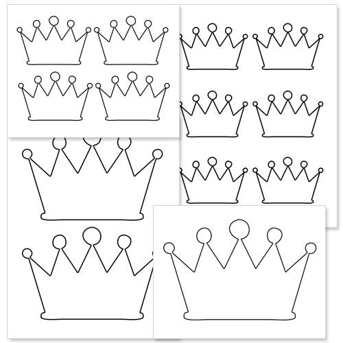 Printable Crown Shape — Printable Treats.com