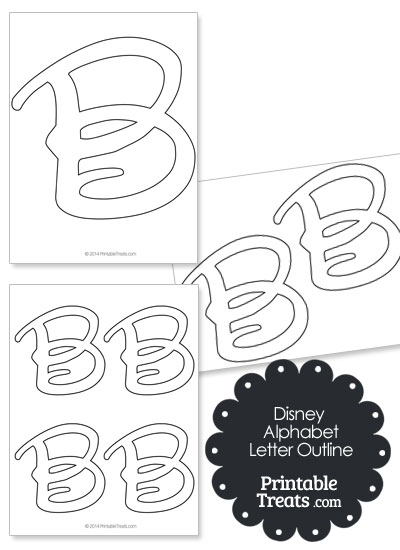 Printable Disney Letter B Outline — Printable Treats.com