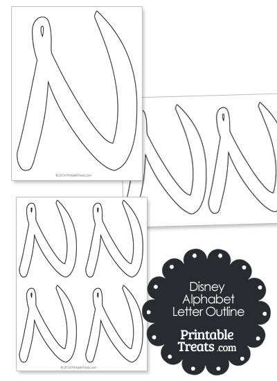 Printable Disney Letter N Outline — Printable Treats.com