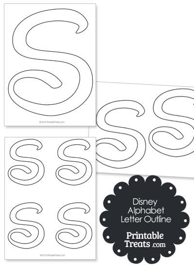 Printable Disney Letter S Outline — Printable Treats.com