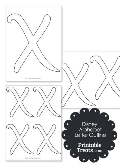 Printable Disney Letter X Outline — Printable Treats.com