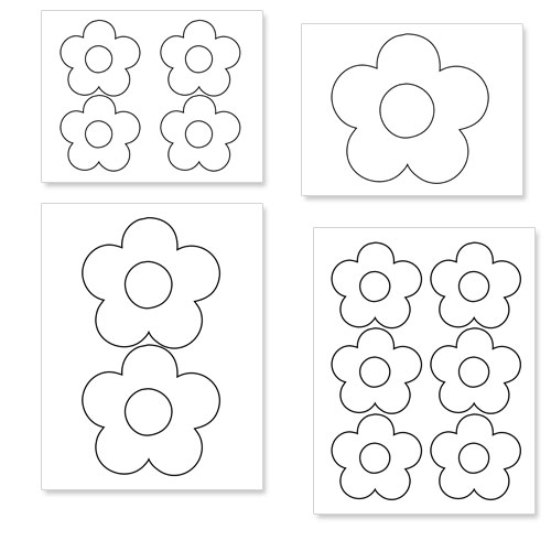 Printable Flower Shapes to Cut Out — Printable Treats.com
