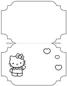 Printable Hello Kitty Card Template — Printable Treats.com