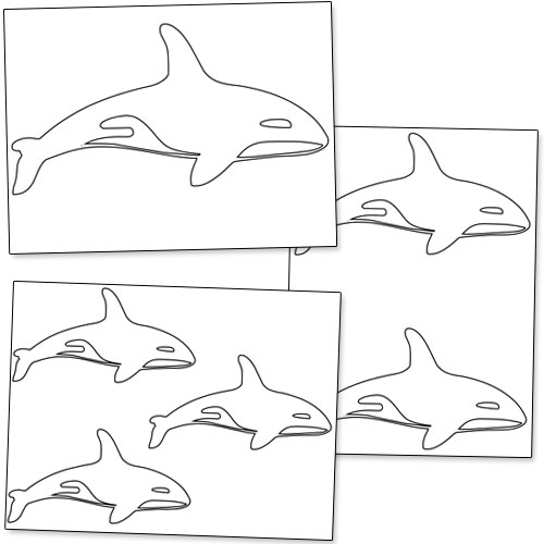 Printable Killer Whale Shapes — Printable Treats.com