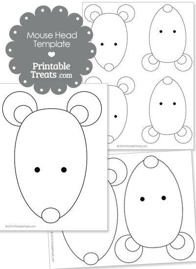 Printable Mouse Head Template — Printable Treats.com