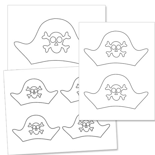 Pirate Hat Template — Printable Treats.com