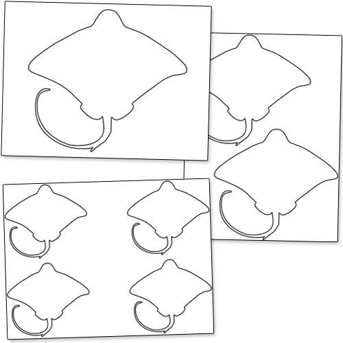 Printable Stingray Template — Printable Treats.com
