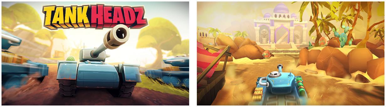 Tank Headz - Online PvP Arena Battles captures d'écran