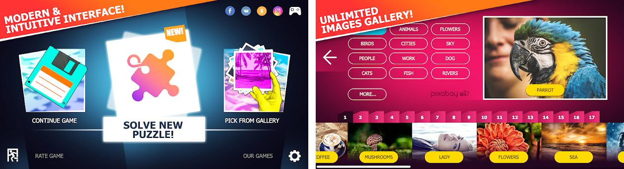 Unlimited Puzzles - free jigsaw for kids and adult preview screenshot