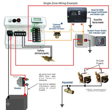 wiring diagram heating systems 12 volt electric hydraulic pump ode to hydronic boat and sure marine service panbo typical single zone system courtesty apanbo jpg