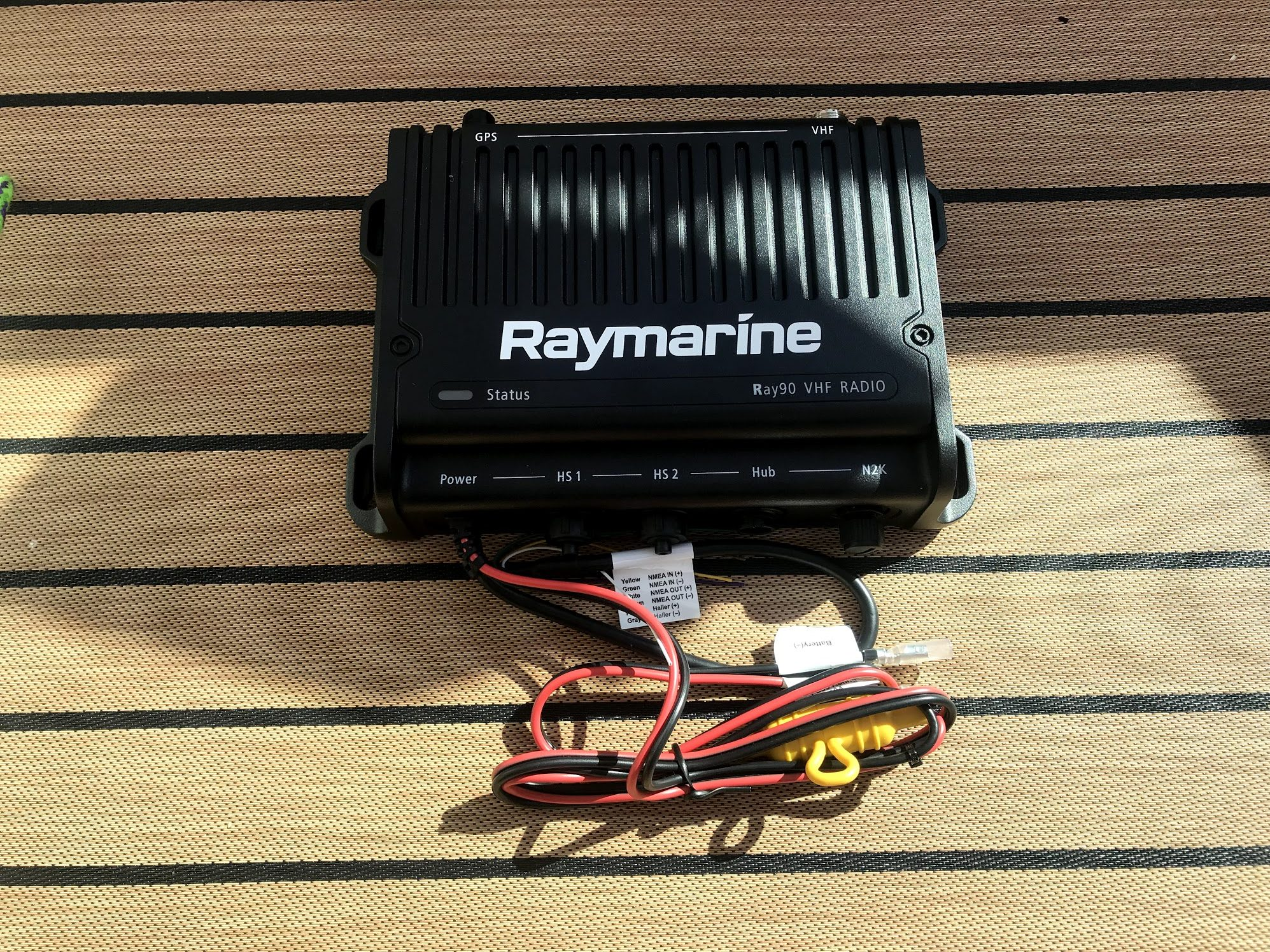 hight resolution of the ray90 base unit before being installed inside the helm of have another day