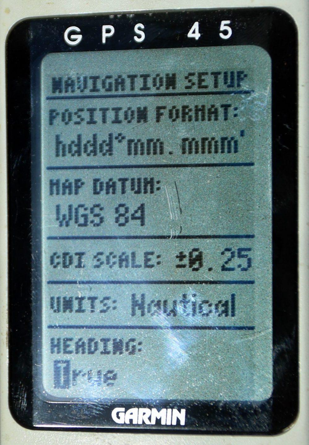medium resolution of garmin 45 navigation setup changing to true