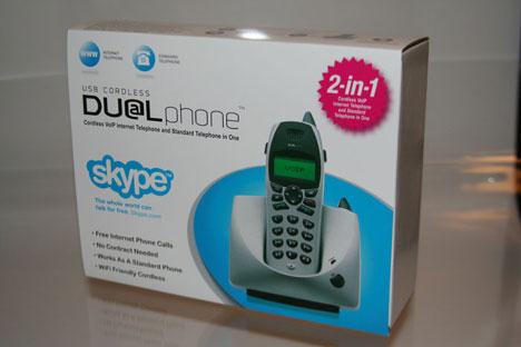 DualPhone: Cordless Skype and standard phone