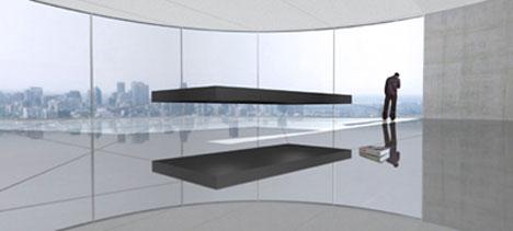 Floating magnetic bed