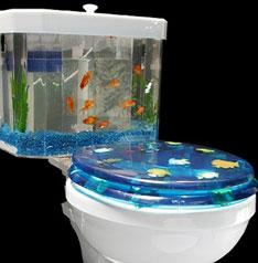 Fish n Flush aquarium toilet tank