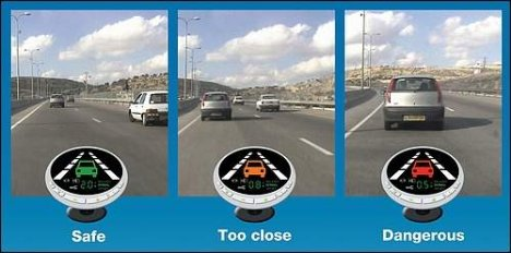Mobileye automatic warning system