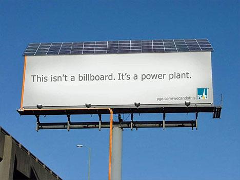 Power-Generating Billboard From PG&E