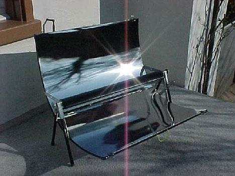Solar-powered grill for summer BBQs